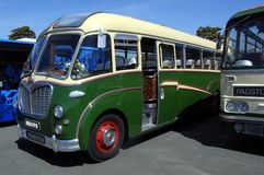 Old Coach, Bedford SB Duple Vega. A restored Bedford coach at a rally stock photos