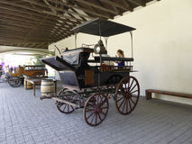 Old coaches in winery Vina Undurraga in Talagante. TALAGANTE, CHILE - JAN 24, 2015: old coaches in winery Vina Undurraga in Talagante, Chile. The foundation was stock photography