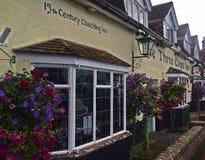 The Old Coaching House Stockbridge. The Three Cups Inn Stockbridge Royalty Free Stock Photo