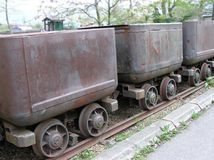 Old Coal Carts royalty free stock image