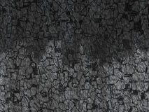 Old coal cracked texture Royalty Free Stock Images