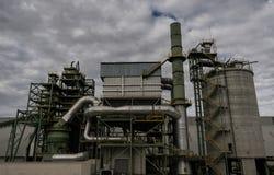 Old coal factory in Tarragona harbour stock photo