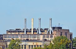 Old coal fired power plant Stock Photos