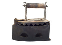 Old coal iron Royalty Free Stock Photography