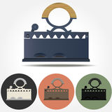Old Coal Iron vector icons Royalty Free Stock Photography