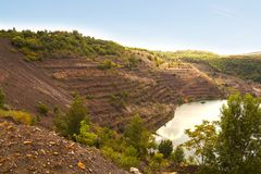 An old coal mine in Pecs in the south of Hungary. stock photography