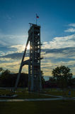 Old coal mine shaft Stock Images