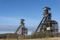 Old coal mine shafts Royalty Free Stock Photos
