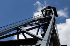 Old coal mine tower in Belgium Royalty Free Stock Photos