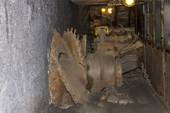 Old coal mining machine Royalty Free Stock Images
