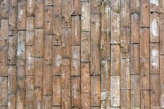 A old rough wood plank wall as a texture pattern background with copy space. yellow,grunge. Old coarse wood  plank wall  as a texture pattern background with royalty free stock images