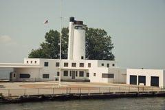 Old Coast Guard Station. In Cleveland, Ohio stock image