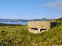 Old coastal artillery strengthening Stock Images