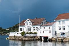 Old Coastal houses of Southern Norway Stock Photography