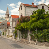 Old coastal town Perast in Montenegro Royalty Free Stock Images