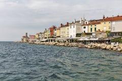 Old coastal town Piran in Slovenia. Stock Photo