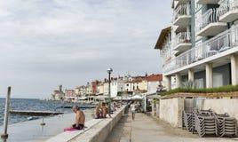 Old coastal town Piran in Slovenia. Royalty Free Stock Photos