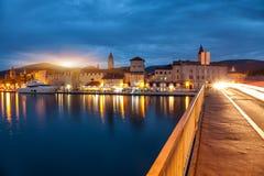 Old coastal town Trogir in Croatia Stock Photos