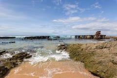 Old coastline shipwreck royalty free stock image