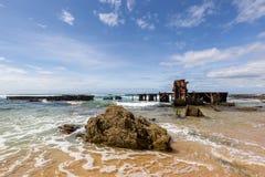 Old coastline shipwreck stock photos