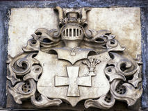 Old coat of arms. Antique coat of arms - closeup Royalty Free Stock Images