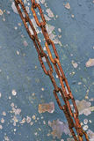 The old coating and rusting metal chain Stock Photo