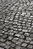 Old cobble road Stock Photo