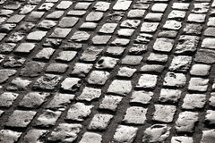 Old cobble stone street In Royalty Free Stock Photography