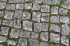 Old Cobble Stones. Of a street in Lisbon Portugal stock image
