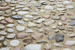 An old cobbled road. Shown up close Royalty Free Stock Photo