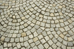 Old cobbled road texture Royalty Free Stock Photos