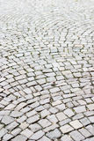 An old cobbled street. An abstract of a cobbled street Royalty Free Stock Images