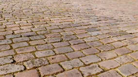 Old cobbled street pan wide stock video
