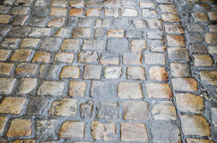 Old cobbles after rain Royalty Free Stock Photography