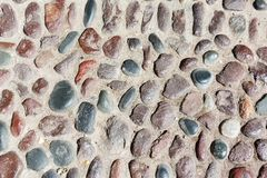Old cobblestone, background close-up Royalty Free Stock Photo