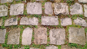 Old cobblestone footpath stock image