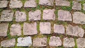 Old cobblestone footpath Royalty Free Stock Images