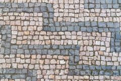 Old cobblestone pattern, stone textured background, gray and pinky granite stones
