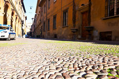Old cobblestone pavement Royalty Free Stock Images