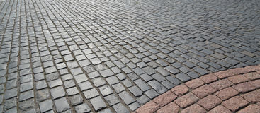 Old cobblestone pavement. Royalty Free Stock Photography