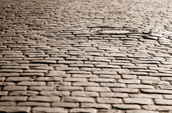 Old cobblestone road Royalty Free Stock Image