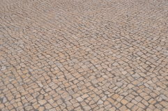 Old cobblestone road in city Stock Image