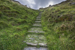 Old Cobblestone Steps Royalty Free Stock Photos
