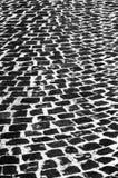 Old cobblestone street. Black and white Royalty Free Stock Photos