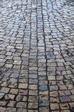 Old cobblestone street background texture vertical Royalty Free Stock Image