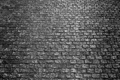 Old cobblestone street dark night background texture Stock Photography