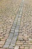 Old cobblestone street in Prague Stock Photo