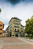 Old cobblestone street in Zurich. In Switzerland Stock Images
