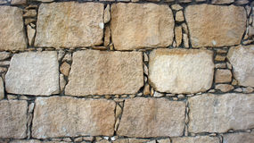 Old Cobblestone wall. Background and textures photography Stock Photography