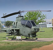 Old Cobra attack helicopter. In camp Mabry in Austin, Texas Stock Photo